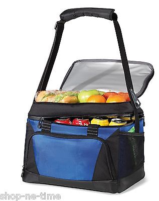 Vertex 36 Can Insulated Deluxe Large Capacity Blue Cooler Bag - New