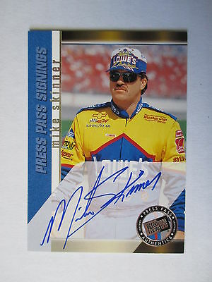 2000 Press Pass Signings Mike Skinner - On Card Auto!!