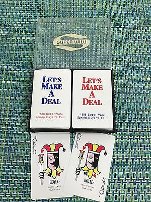 Vtg Dual Deck Playing Cards 1888 Super Valu Supermarket Spring Buyers Fair