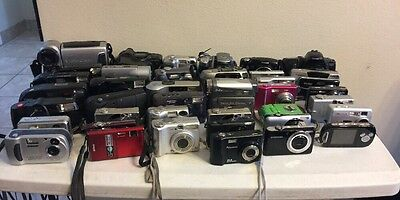 Lot Of 40 Cameras Digital And Some 35mm (Nikon, Sony, Canon, Samsung) UNTESTED