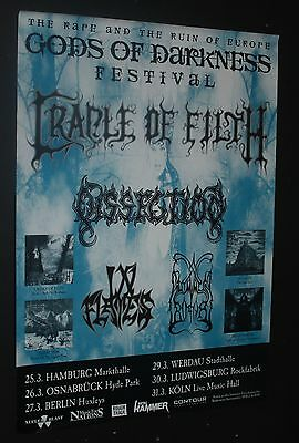Cradle Of Filth Inflames Dissection  German  Doom  Concert Gig  Tour Poster