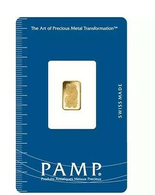 PAMP 1 Gram Gold Bar With Carrier Pouch