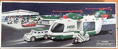 Hess Helicopter with Motorcycle and Cruiser 2001 New