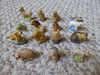 Wade collection of 15 minature animals