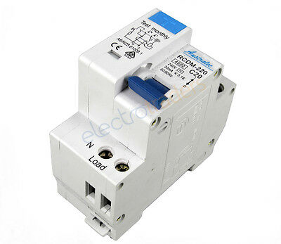 Safety Switch Circuit Breaker Combination 2 Module  RCBO 20 Amp 4.5Ka Rated Aust