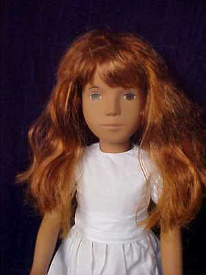 """Sasha Doll 16"""" Girl Redhead in White Dress from Trendon England"""