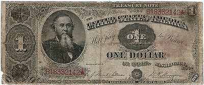 1891 Treasury Note $1 in Coin Fr351 VG No Holes