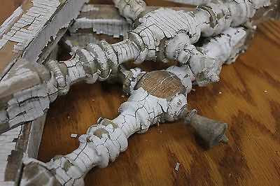 Pair of Vintage Architectural Salvage Corbels with Chipping Paint!
