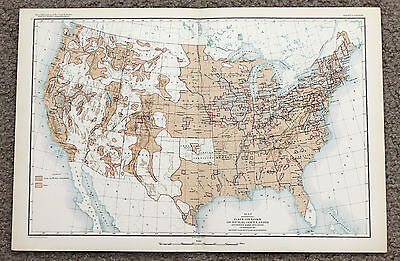 1890 United States Map Population Gain and Loss 1880-1890 Indian Territory