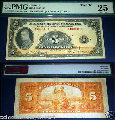 FRENCH - BANK Of CANADA $5  PMG 25. BANQUE DU CANADA