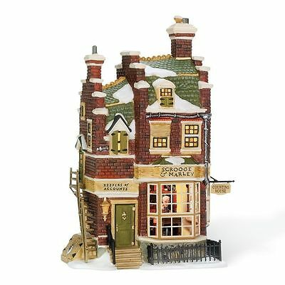 Department 56 Dickens Village - SCROOGE & MARLEY COUNTING HOUSE - NIB FREE SHIP