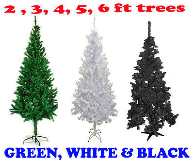 2/3/4/5/6Ft Green White Black  Indoor Artificial Christmas Xmas Tree Stand