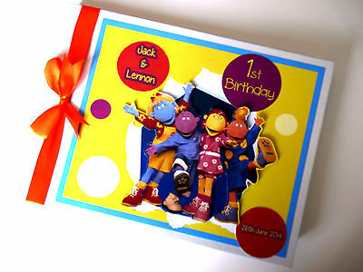 Personalised Tweenies Boy/girl /first/1St Birthday Guest Book Any Design