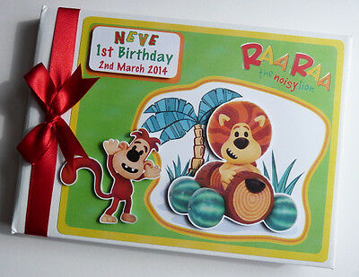 Personalised Raa Raa Lion Boy/girl /first/1St Birthday Guest Book Any Design