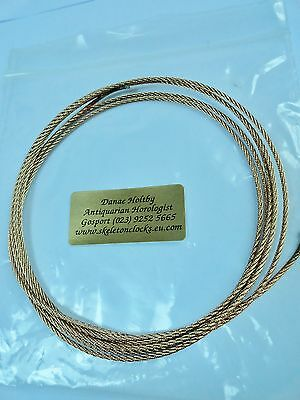 Bronze wire for all types of Fusée movements - Lovely on Skeleton Clocks.