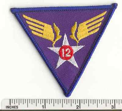 WW2 12th Air Force AAF Military US Army WWII  USAF fabric PATCH