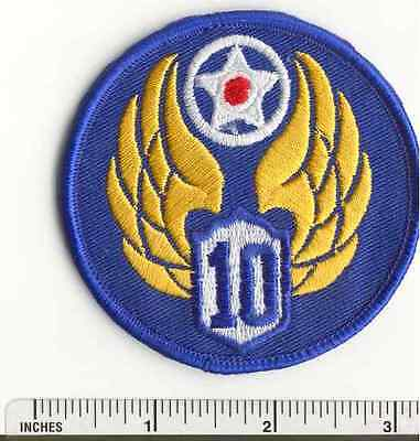 WW2 10th Air Force AAF Military US Army WWII  USAF fabric PATCH
