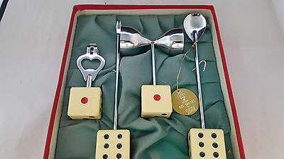 The Lucky 7 dice bar set by Swank. Vintage