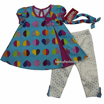 Gymboree Baby Girls Shirt legging Matching Headband Size 3 6 9 12 18 24 months