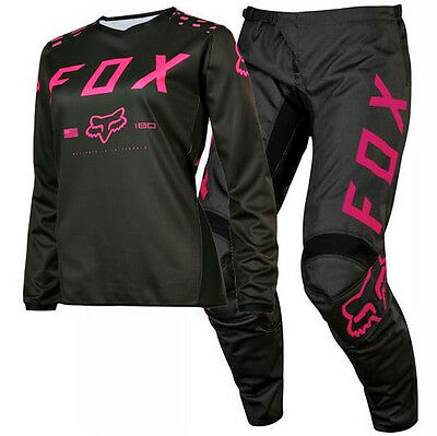 New FOX Racing MX 2017 Motocross Jersey & Pants Outfit 180 Womens Black Pink