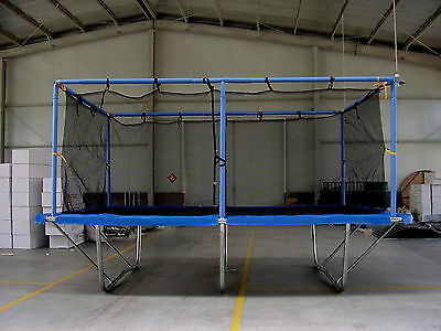 Trampoline 10x17 ft with Safety Enclosure Net, Rectangle Pads Mat, Round Springs