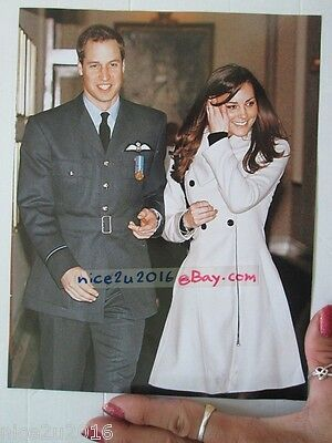 BRITISH Royal Prince William Catherine Press Photo 7x9 inch Waterproof clipping