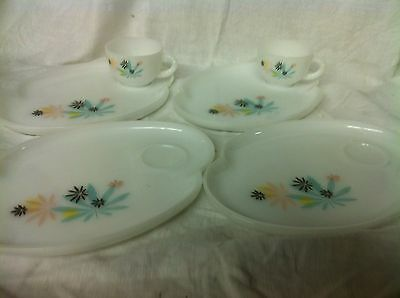 Vintage Atomic Flowers Snack Set 6 pieces