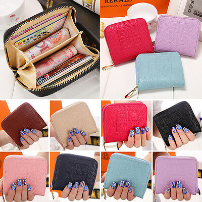 Cute Womens PU Leather Wallet Coin Purse Lady Card Holder Small Bag Unisex Pouch