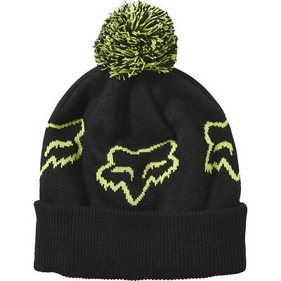 Fox Racing Particle Womens Headwear Beanie Hat - Black One Size