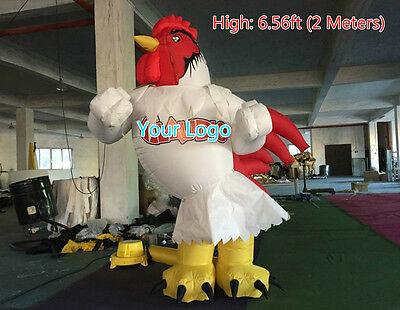 6.56ft 2M Inflatable Advertising Promotion Giant Chicken Free Logo Print