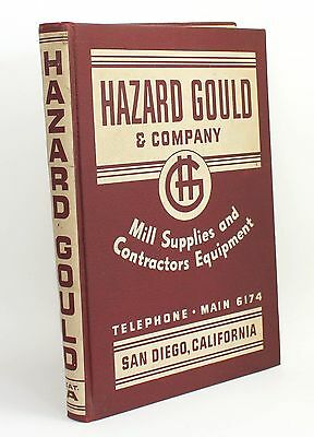 Hazard Gould & Company Mill Supplies & Contractors Equipment Vtg Catalog 1940s