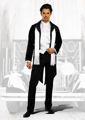 Great Godfather Gangster Gatsby Costume Outfit Adult Men Halloween Party sz M