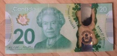 $20 Canadian Dollar Queen Historic Reign Canada Bill Collector 90th Birthday