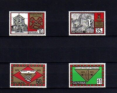 Guyana - 1975 - Foresters - Building - Badge ++ Mint - Mnh Set!