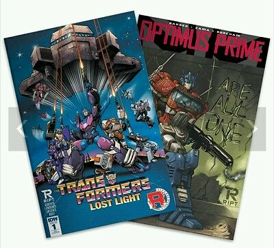 Transformers comic Exclusive Optimus Prime #1 Lost Light #1 RE covers