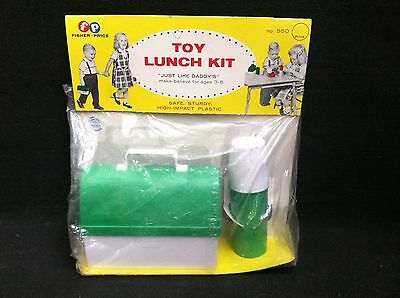 Super RARE 1958 Fisher Price lunchbox sealed on card only one on ebay
