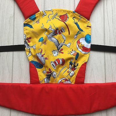 Doll Carrier- Mini Soft Structured Carrier - Yellow Cat In The Hat
