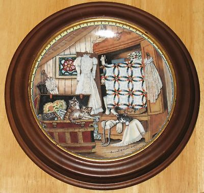 """Collectable  Cat Plate  Knowles """"attic Afternoon"""""""