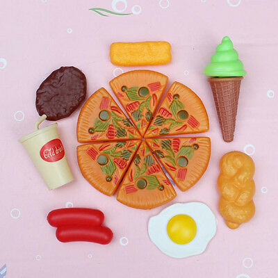 Creative Kids Pizza Cooking Cutting Accessories Pretend Kitchen Play House Toy