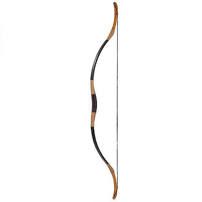 Traditional Horsebow Bow Black Cow Leather Archery Longbow Recurve Bow 15-110lb