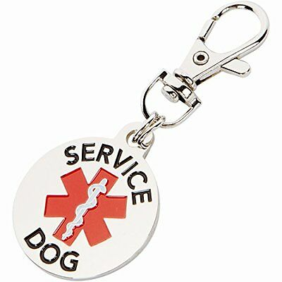 Small Breed DOUBLE SIDED SERVICE DOG with Red Medical Alert Symbol.