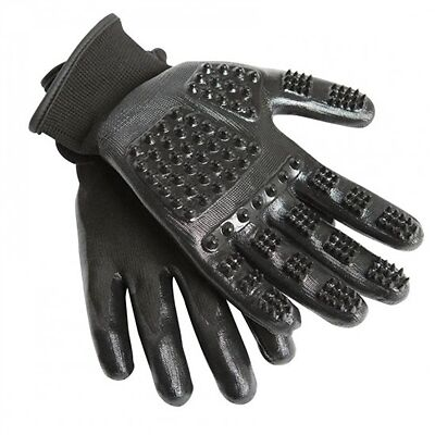 Hands On Horse Grooming Gloves / Mitts - LARGE Massage & Groom Dogs Cats, Horses