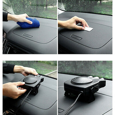 Black 12V Auto Car Vehicle ABS Fan Heater Heating Cooling Fan Defroster Demister
