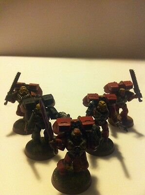 Warhammer Space Marines Blood Angels Army Assault Squad 5 Games Workshop Models