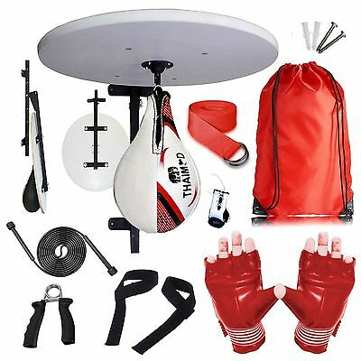 Punching Boxing Speed Ball Platform Set Adjustable Stand, Boxing Gloves Bracket