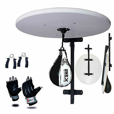 New Boxing Speed Ball Platform Set Adjustable Stand, Boxing Gloves Bracket