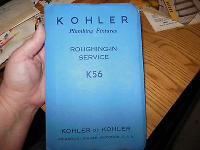 1954 Kohler Company (Wisconsin) Plumbing Fixtures Roughing-In Service Manual