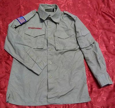 """Z367 Used OFFICIAL BSA BOY SCOUTS OF AMERICA Uniform shirts Youth Medium 36"""""""