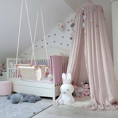 Kids Baby Bedding Round Dome Bed Canopy Bedcover Mosquito Net Curtain Decor