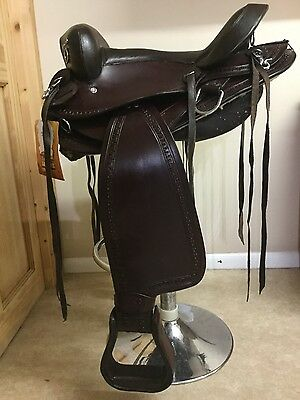 15 inch King Series Brown Hornless Gaited Western Saddle